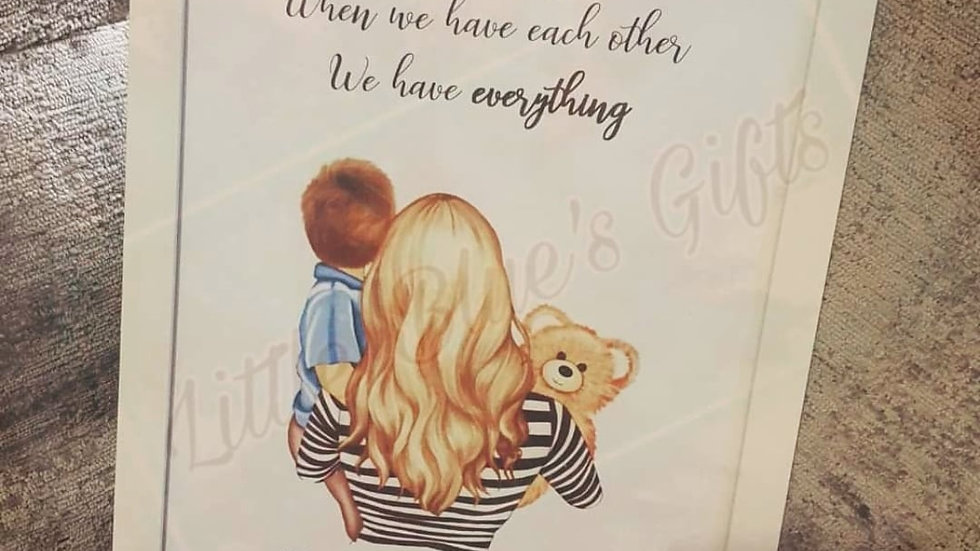 Mum & Child Personalised Print