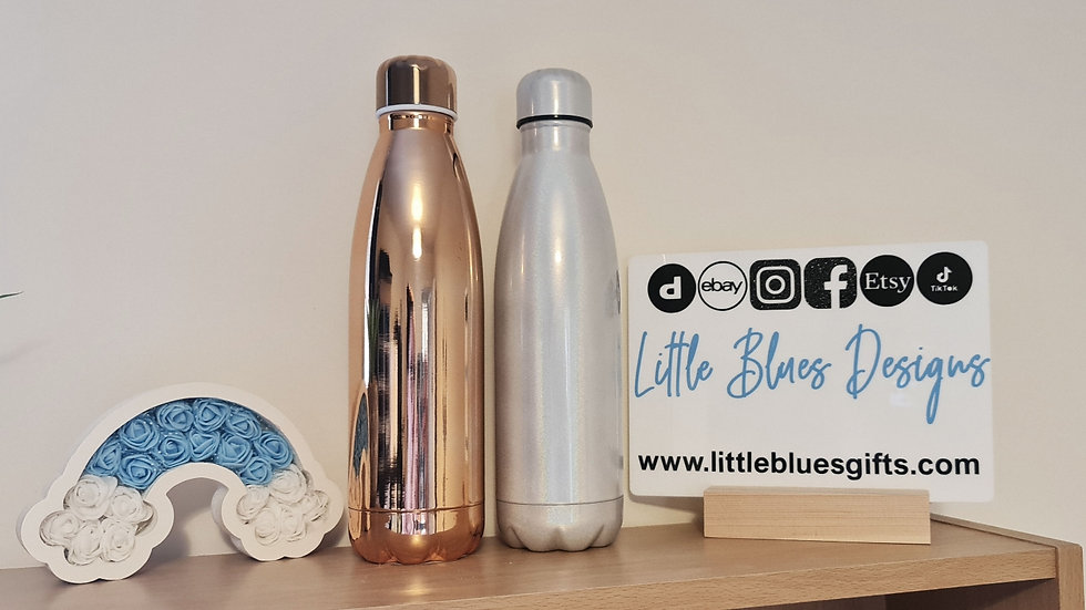 Personalised insulated Water Bottle - Shimmer Pearl