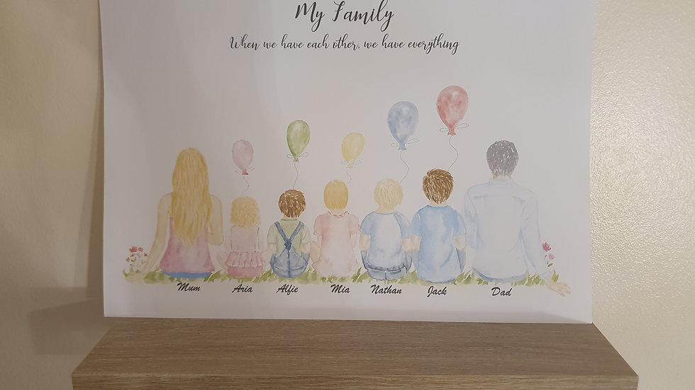 Family Personalised Print