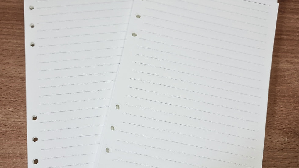 Notebook inserts A5 x 50