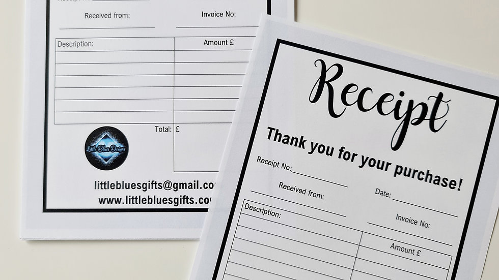 A5 Personalised Tear off Receipt Book