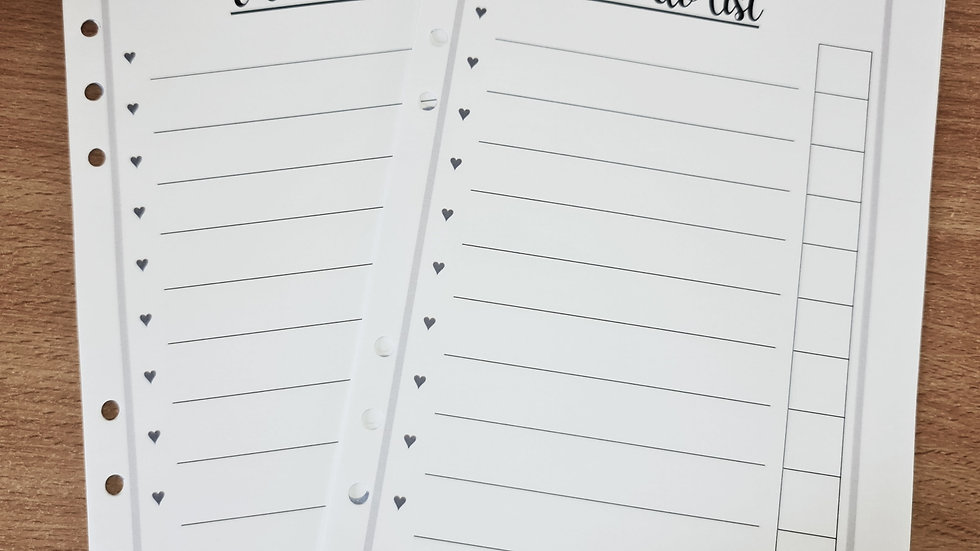 To-Do List A5 Inserts x 50