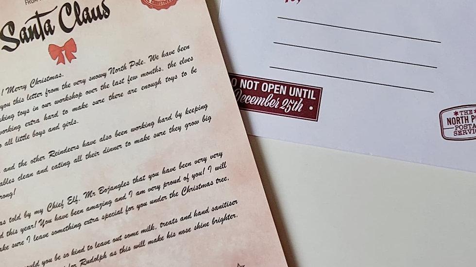 Personalised Santa Letter & Envelope