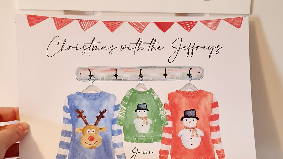Personalised Christmas Jumper Family Print