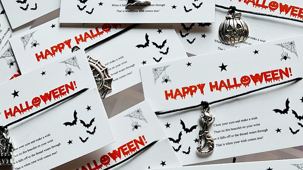 20 x Halloween Wish Bracelets