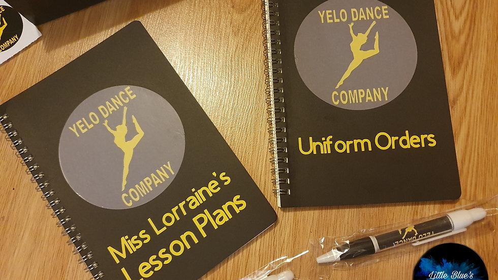 Personalised Black Notebook(ANY WORDING)