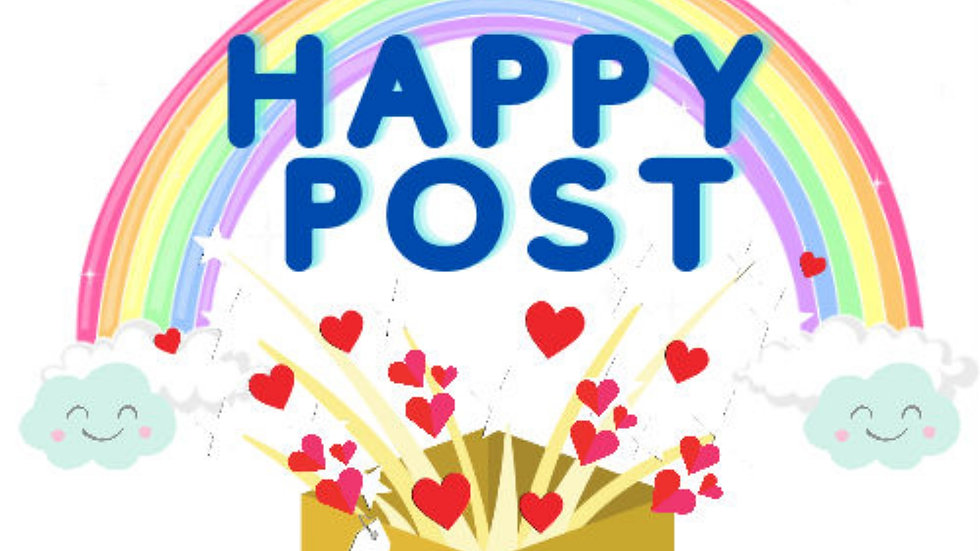 Happy Post Stickers - 3 sheets