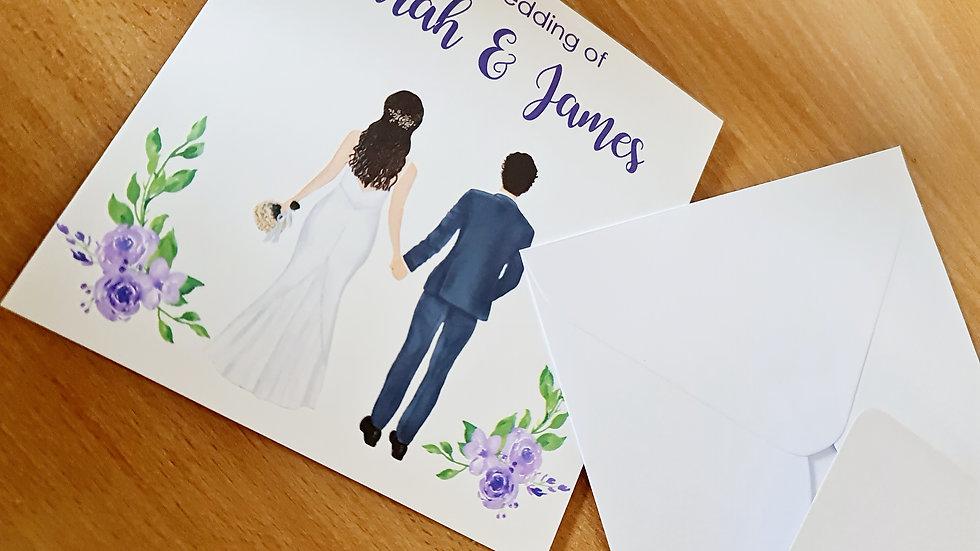 Wedding Card Invitations x 50