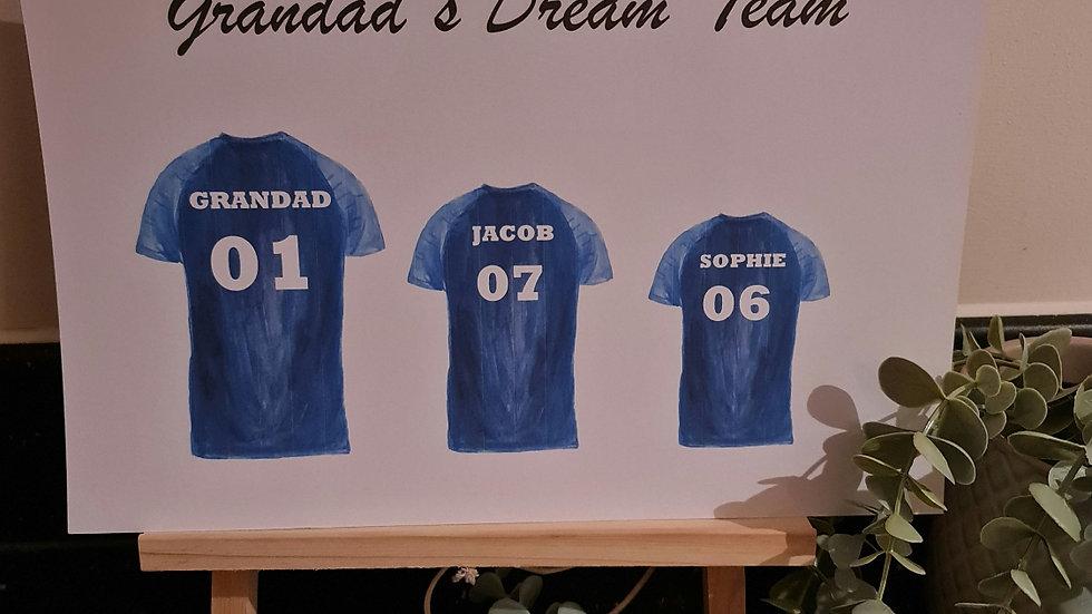 Dream Team Football Shirt Print