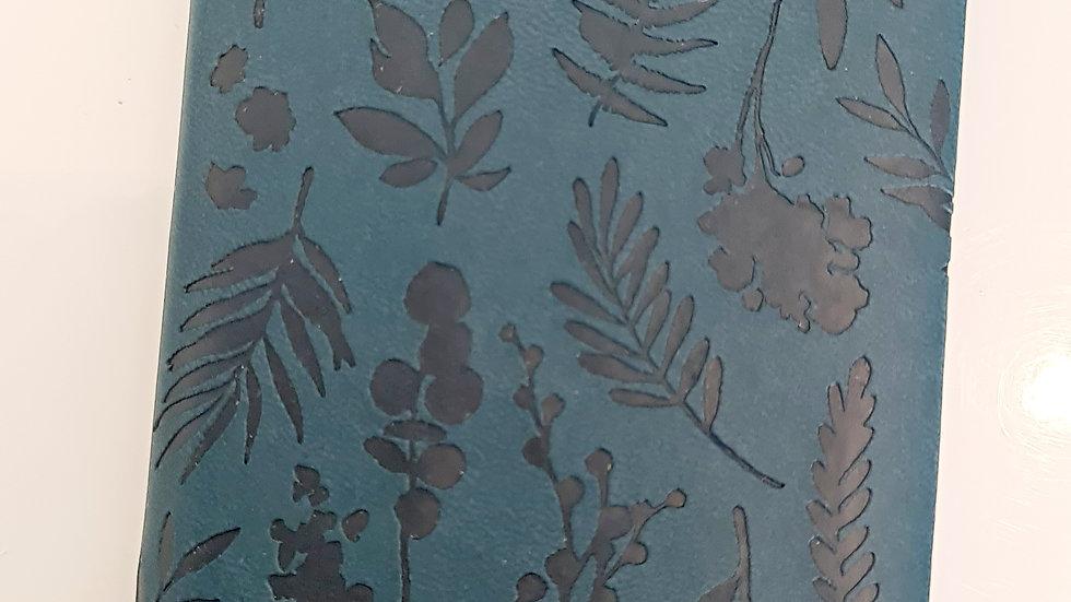 Leafy Embossed A6 Slimline Diary