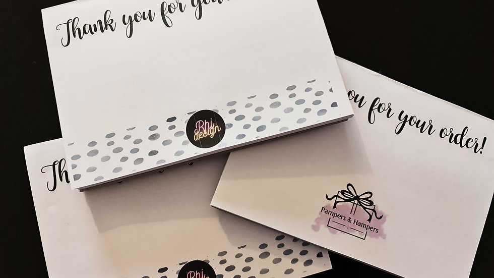 A6 Tear Off Thank You For Your Order Notelet