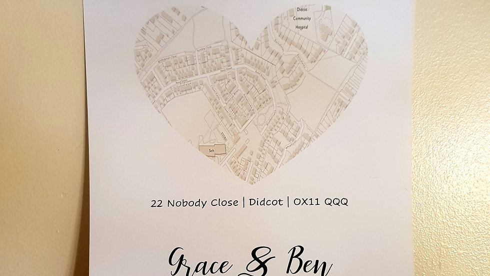 Our Home Personalised Map Print