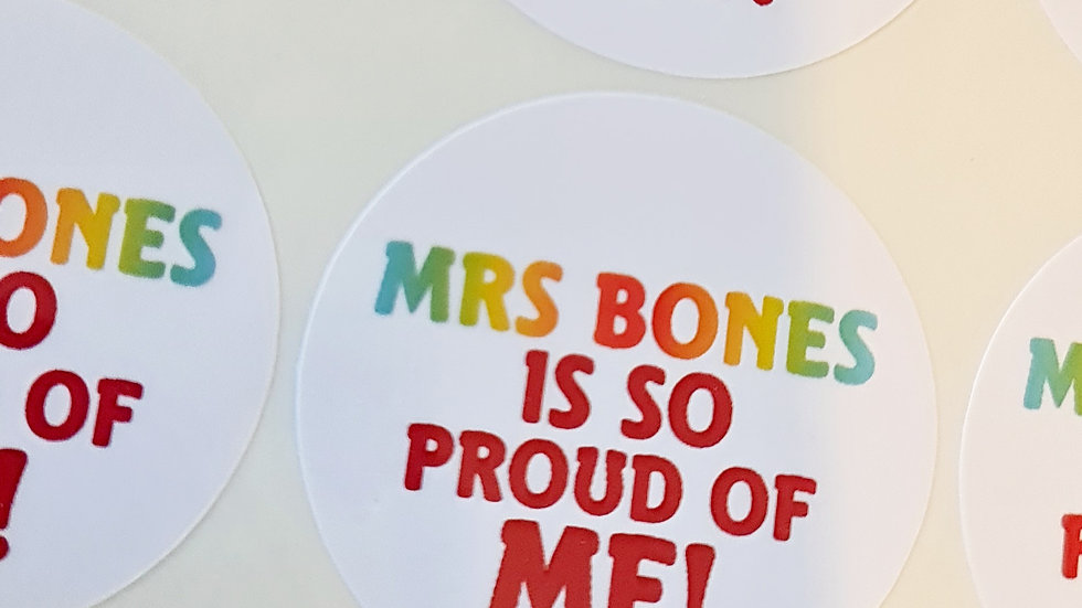 Personalised Teacher Stickers - 3 sheets