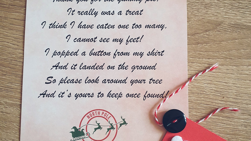 Santa's Lost Button with poem