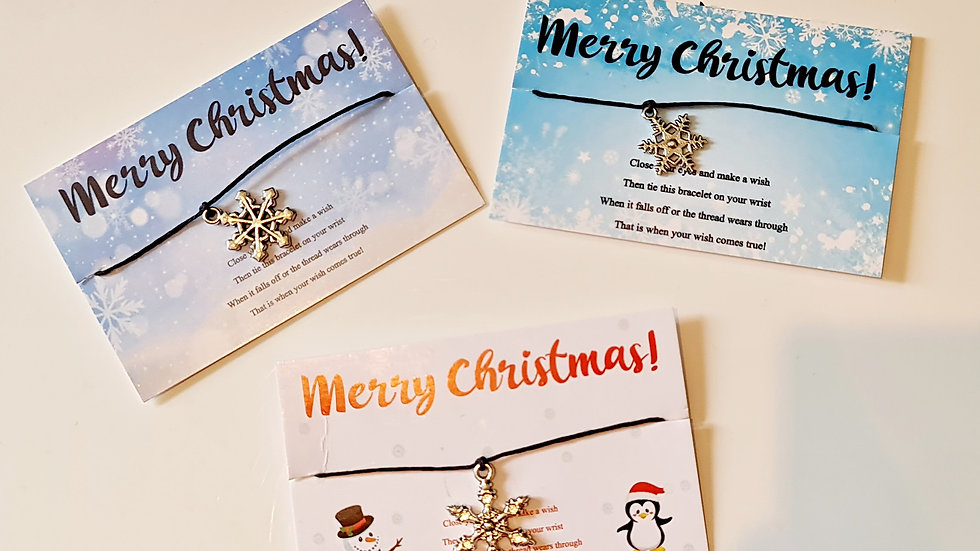 30 Christmas Wish Bracelets - Mixed Designs