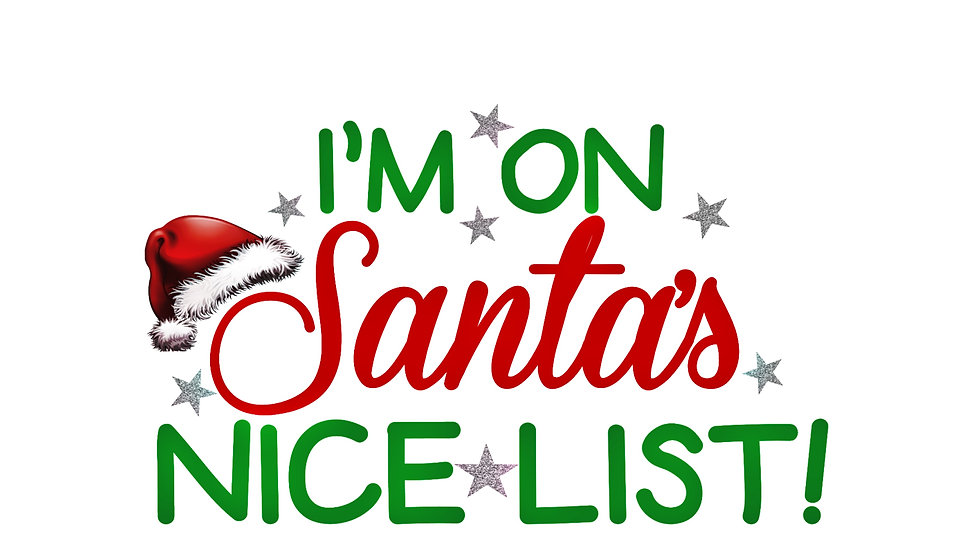 'Nice List' Stickers - 3 Sheets