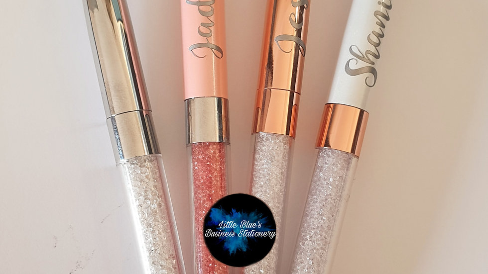 Personalised Crystal Pen WHITE