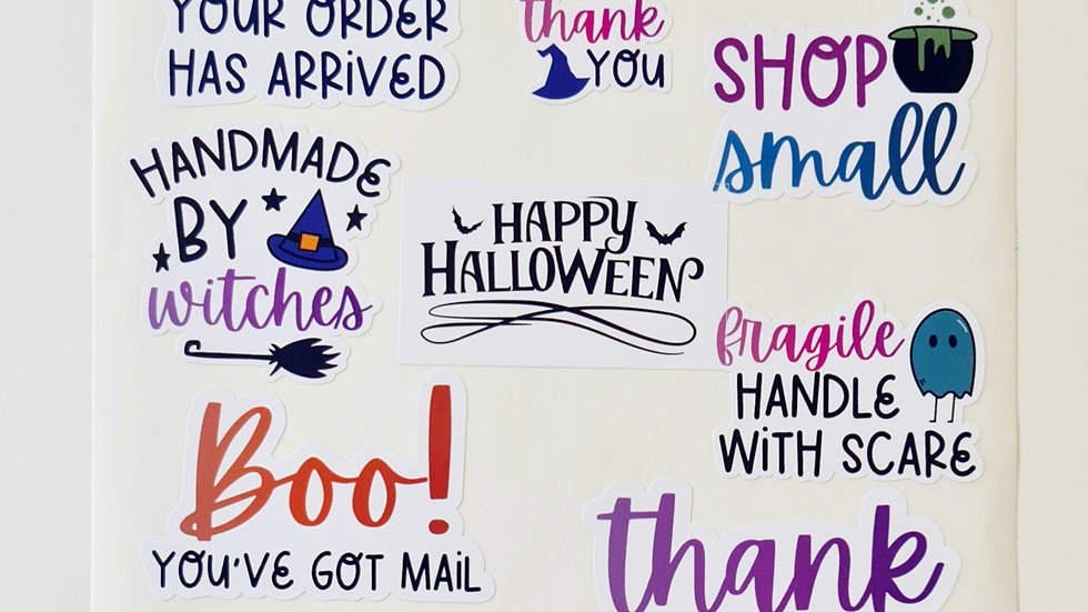 3 sheets of mixed Hallween Stickers