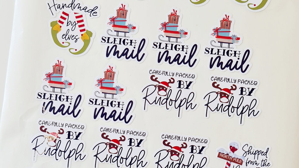 3 Sheets of Mixed Christmas Stickers