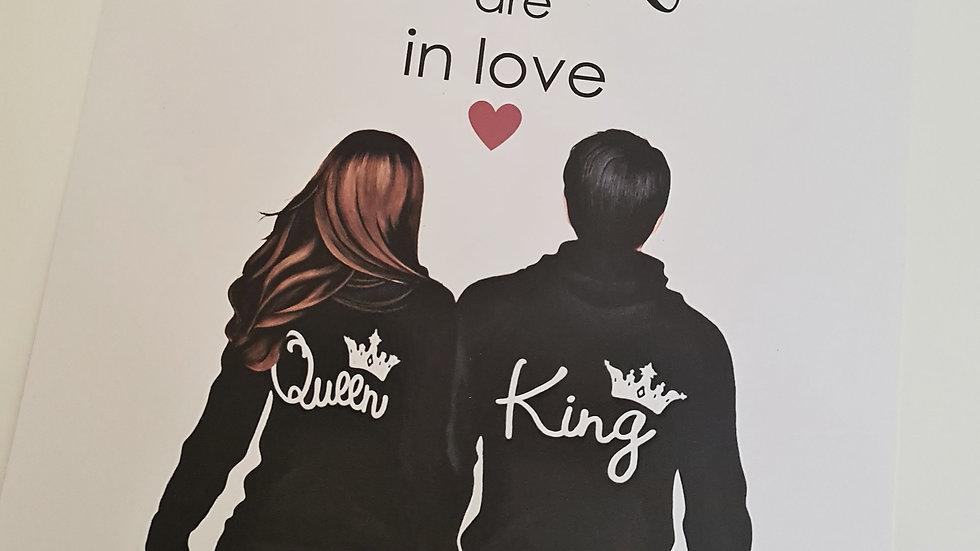 King & Queen Print