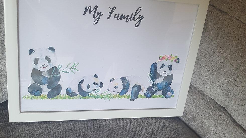 Panda Family Print