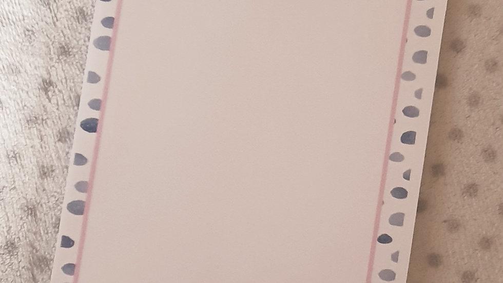 Tear Off Notes Pad - Dalmation Print