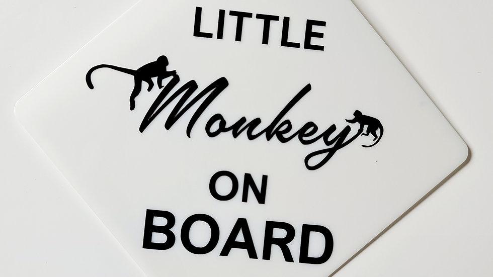 Little Monkey on Board Sign
