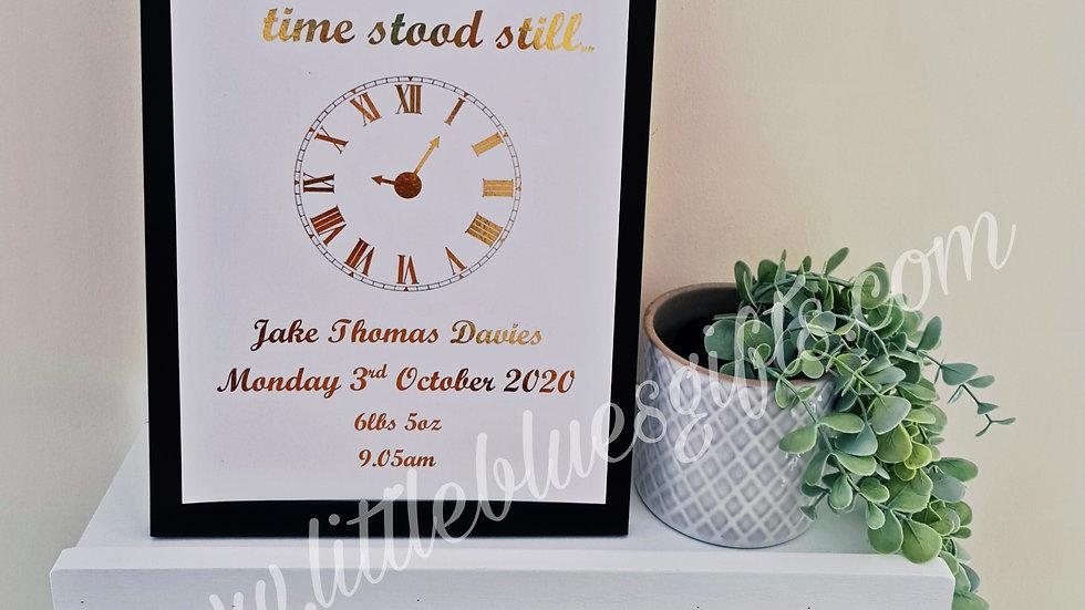 Time Stood Still - Foil Print