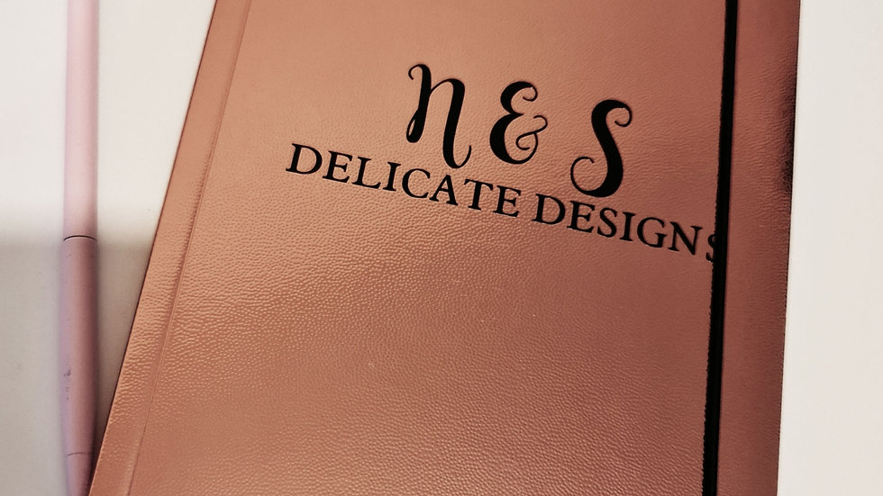 Personalised Rose Gold A5 Notebook