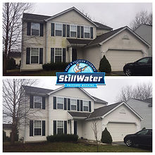 House Washing Service in Columbus, Powell, Dublin, Westerville, Hilliard, Worthington, New Albany, Blacklick, Ohio.  Pressure Washing and Roof Cleaning Service