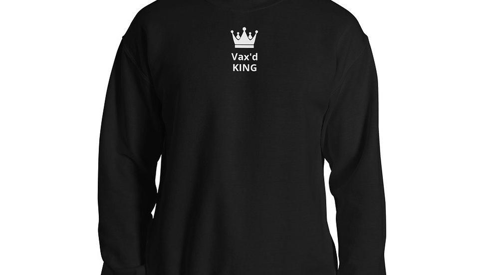 Vax'd King - Printed - Unisex Sweatshirt - White Lettering