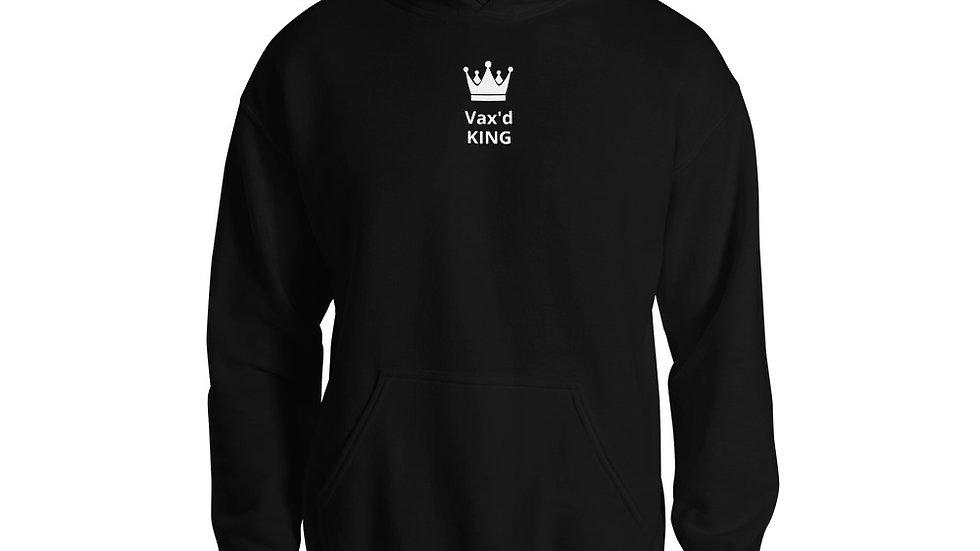 Vax'd King - Printed - Unisex Hoodie - White Lettering