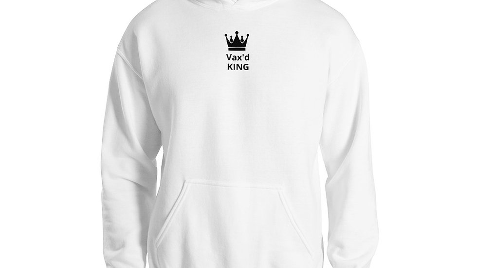 Vax'd King - Printed - Unisex Hoodie - Black Lettering