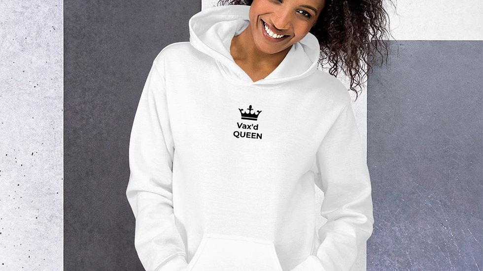 Vax'd Queen - Printed - Unisex Hoodie - Black Lettering