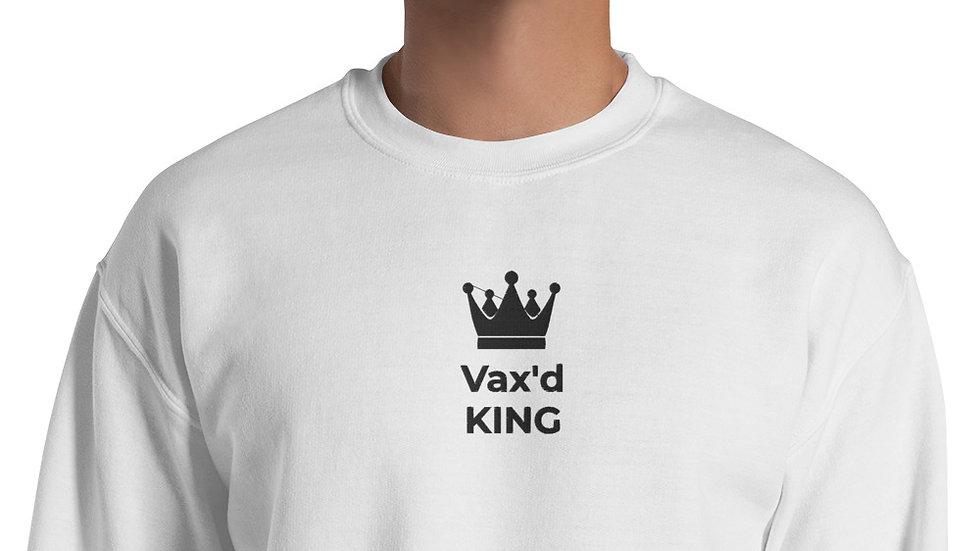 Vax'd King Embroidered - Unisex Sweatshirt - Black Lettering