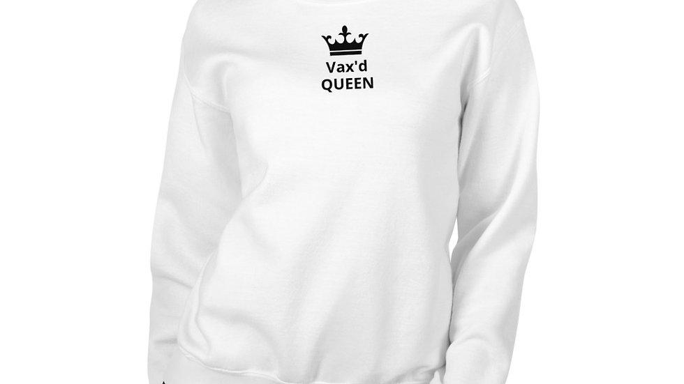 Vax'd Queen - Printed - Unisex Sweatshirt - Black Lettering