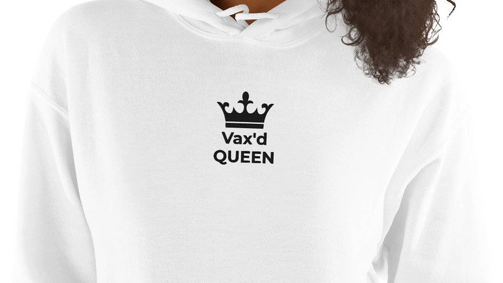 Vax'd Queen Embroidered - Unisex Hoodie - Black Lettering