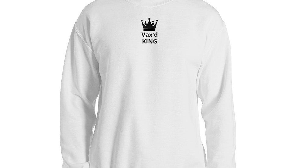 Vax'd King - Printed - Unisex Sweatshirt - Black Lettering