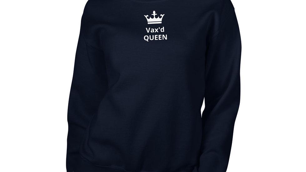 Vax'd Queen - Printed - Unisex Sweatshirt - White Lettering