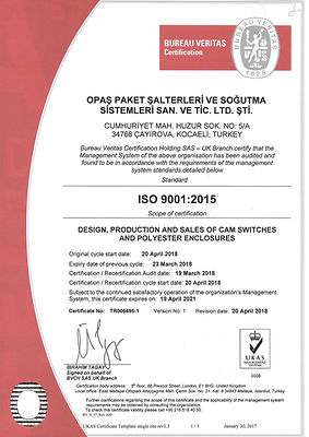 Opas Cam Switch Certificate