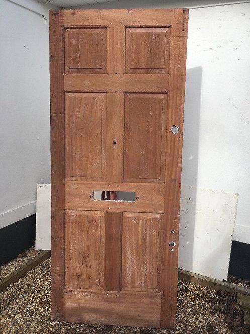 SOLID HARDWOOD FRONT DOOR EXTERNAL OLD PERIOD RECLAIMED BESPOKE JOINER SAPELLE