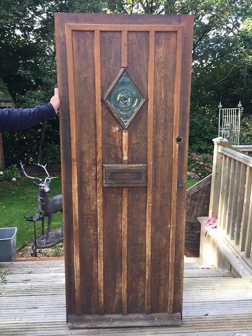 SOLID OAK FRONT DOOR PERIOD WOOD RECLAIMED RUSTIC ANTIQUE 1900s OLD TUDOR