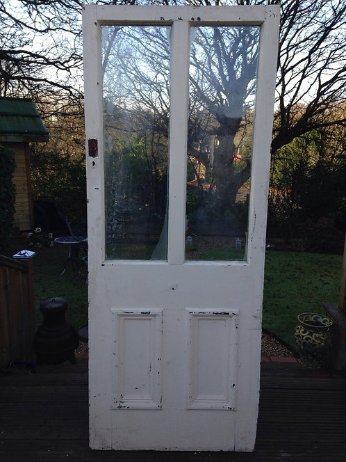 CLASSIC VICTORIAN EDWARDIAN FRONT DOOR WOOD SOLID RECLAIMED OLD EXTERNAL