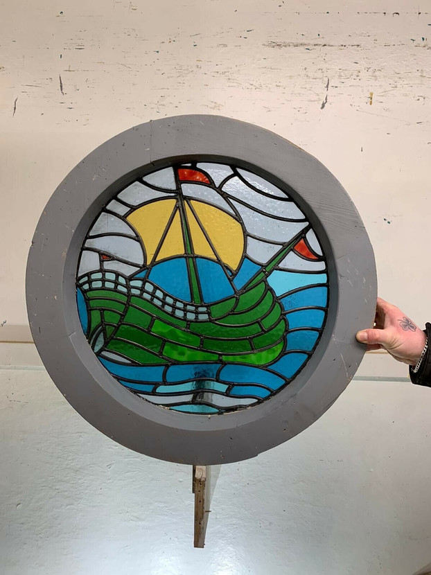 ANTIQUE PORTHOLE WINDOWS