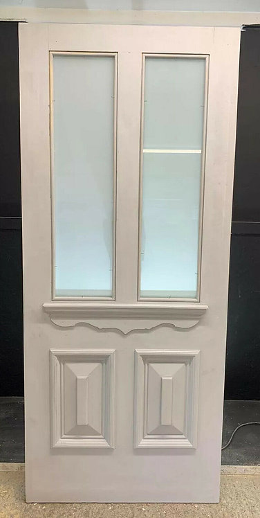 LARGE VICTORIAN FRONT DOOR PERIOD OLD RECLAIMED ANTIQUE REBUILT SAFETY GLASS