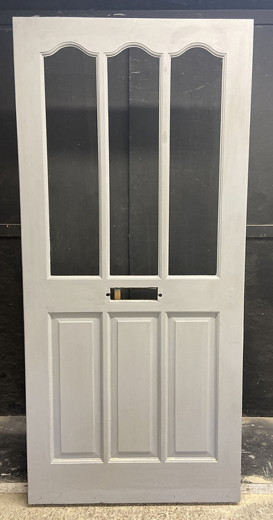 LARGE VICTORIAN EDWARDIAN FRONT DOOR PERIOD OLD RECLAIMED ANTIQUE WOOD UNGLAZED