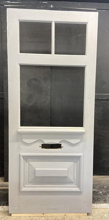 VICTORIAN EDW FRONT DOOR PERIOD OLD RECLAIMED ANTIQUE WOOD REFURBISHED UNGLAZED