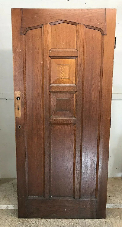 X WIDE SOLID OAK FRONT DOOR OLD PERIOD WOOD ANTIQUE RECLAIMED HARDWOOD TUDOR