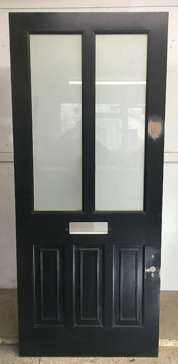 LARGE VICTORIAN FRONT DOOR RECLAIMED PERIOD BESPOKE HARDWOOD ETCHED GLASS OLD