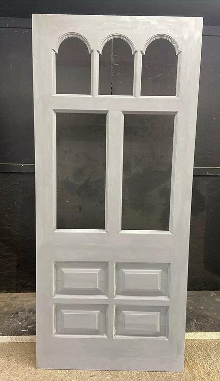 EDWARDIAN FRONT DOOR PERIOD OLD RECLAIMED ANTIQUE WOOD REFURBISHED UNGLAZED